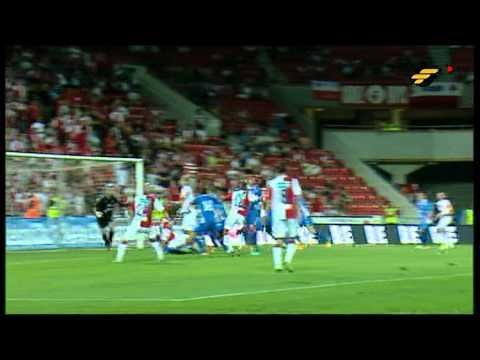 Tomáš Mi�ola, Slavia - Baník 1:1, 19.7.2013 - gól Tomáše Mi�oly na 1:1.