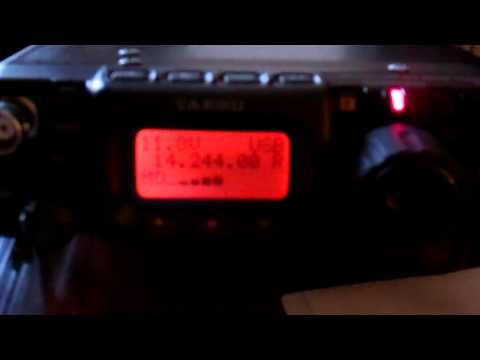 FT-817 QRP QSO KB1VXP (ME) to E77DX (Bosnia) 5 watts Miracle Whip Antenna