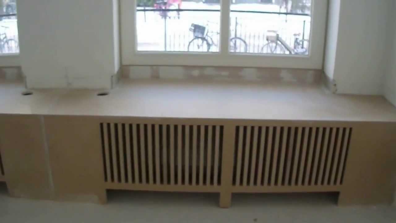 Hoe maak je zelf een radiator ombouw waar je op kunt zitten - YouTube