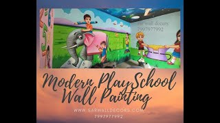 Multicolour play school wall painting in Hyderabad 7997977992