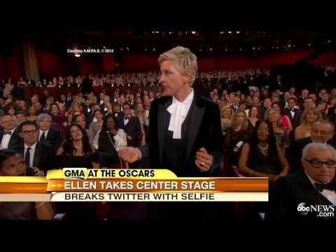 Oscar 2014 Ellen Degeneres Best Oscar Moments Ellen Oscar Selfie