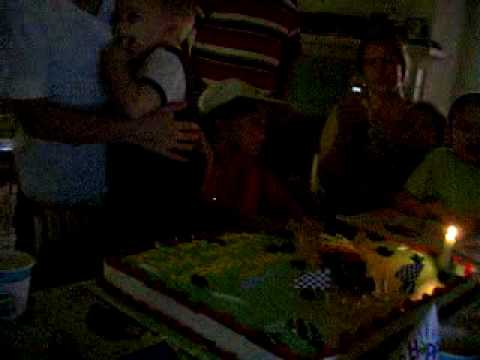 Elijah Blowing out  candles