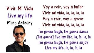 Marc Anthony Vivir Mi Vida English And Spanish Translation Meaning Letras En Ingles