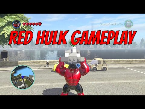 LEGO Marvel Superheroes - Red Hulk Gameplay and Unlock Location