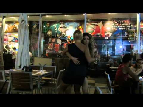Salsa  vs Zouk in TGI Fridays Cyprus Mall Nicosia
