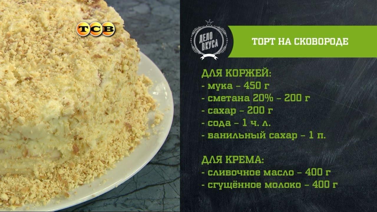 Коржи для торта на сковороде рецепт