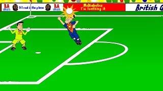 SPAIN v HOLLAND 1-5 by 442oons (World Cup 2014 Cartoon 13.6.14)