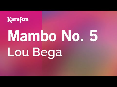 Karaoke Mambo No. 5 A Little Bit Of... Lou Bega