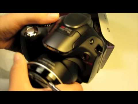 Canon Powershot SX40 HS Unboxing and Test video