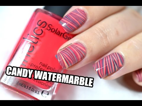 How To: Easy Candy Watermarble Nail Art || Marine Loves Polish