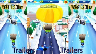 Android Gameplay trailer -Talking Tom Gold Run, Video game funny 2019 #1