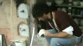 Making Wood Fired Stoneware Pottery.