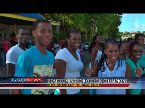 April 5TH 2016   HOMECOMING FOR OUR T20 CHAMPIONS by Kerwin Caesar