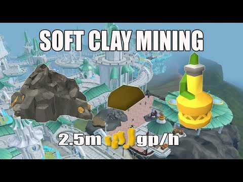 [Runescape 3] Skilling Money Making Guide   Mid Level   Soft Clay Mining   2.5m gp/h