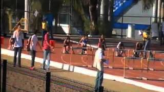 100 metros con vallas femenil semifinal 2da carrera Universiada Nacional 2013