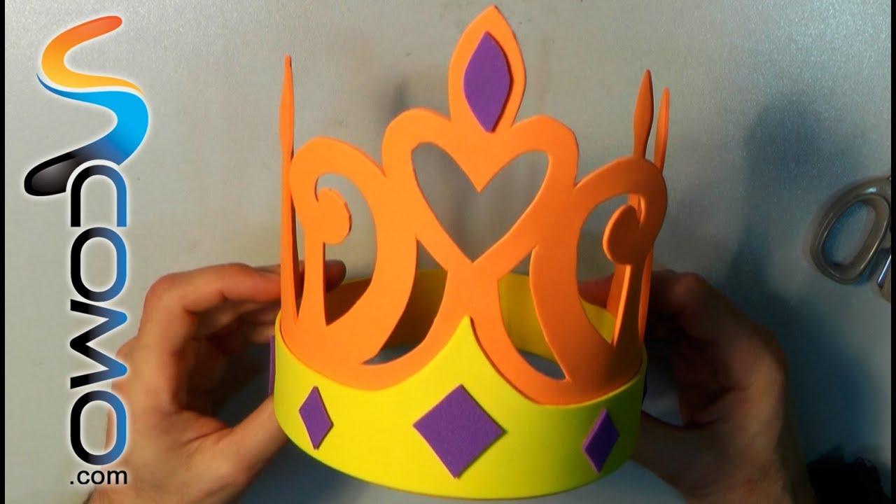C mo hacer una corona para ni os de goma eva youtube - Coronas infantiles de cumpleanos ...