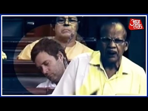 Rahul Gandhi Found Sleeping In Parliament