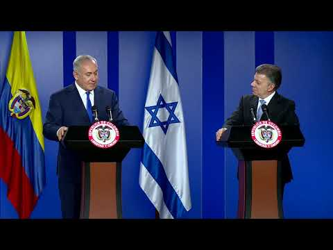 Statement by PM Netanyahu at Meeting with Colombian President Santos