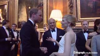 Emma Watson and Kate Moss join Prince William for Windsor charity dinner