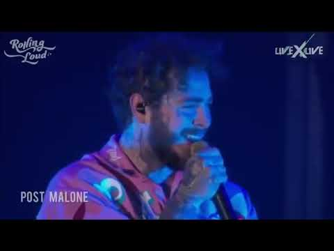 Download Lagu  Sunflower , Spoil my night /  Post Malone with Swae LeeLive at Rolling Loud LA , 2018 #Spiderman Mp3 Free