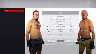 EA SPORTS™ UFC® 3 disrespectful maxed stats CAF gets KO'd and rage quits