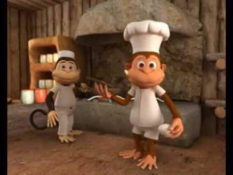 Sevimli Maymunlar Mutfakta