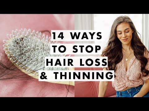 14 Ways To Stop Hair Loss & Thinning - YouTube