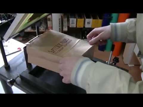 Трафаретная печать на картоне своими руками 86