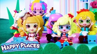 Shopkins | Happy Places The Lil' Shoppies of Happyville - Christmas Party | Cartoons for Children