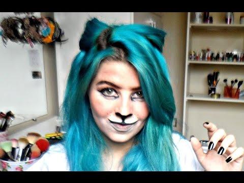 Tutorial - Especial de Halloween Gato ou Leão (make e cabelo)