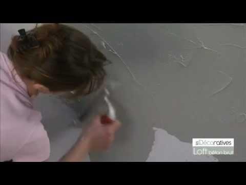 Peinture les d coratives loft beton brut sur www - Peinture paillete les decoratives ...