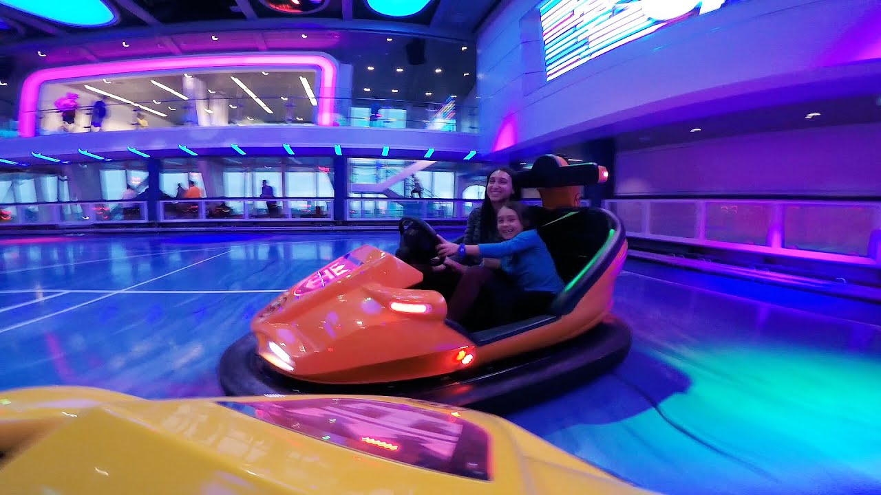 Bumper Cars On A Cruise Ship POV Of World39s First On