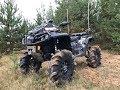 OUTLANDER XMR 6 lift против RENEGADE XMR 4 lift, BRP XTP, YAMAHA! Декабрь, Эстония, ковровые болота!