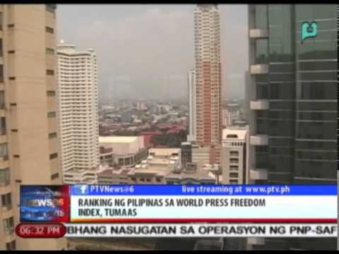 News@6: Ranking ng Pilipinas sa World Press Freedom Index, tumaas || Feb. 13, 2015
