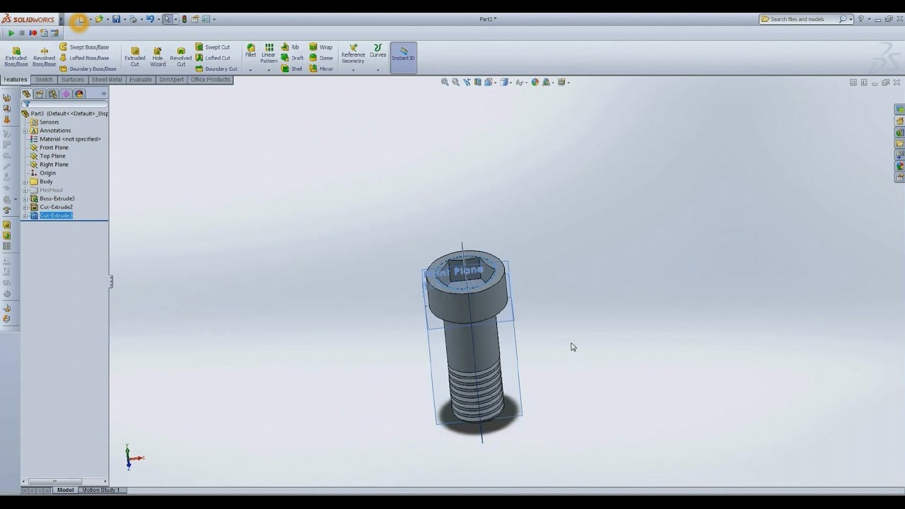 Solidworks create variations of bolts in one part using for Design table not working solidworks