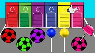 Learn Colors With Lollipop Video For Kids || Soccer Ball Colors || Cartoon For Children
