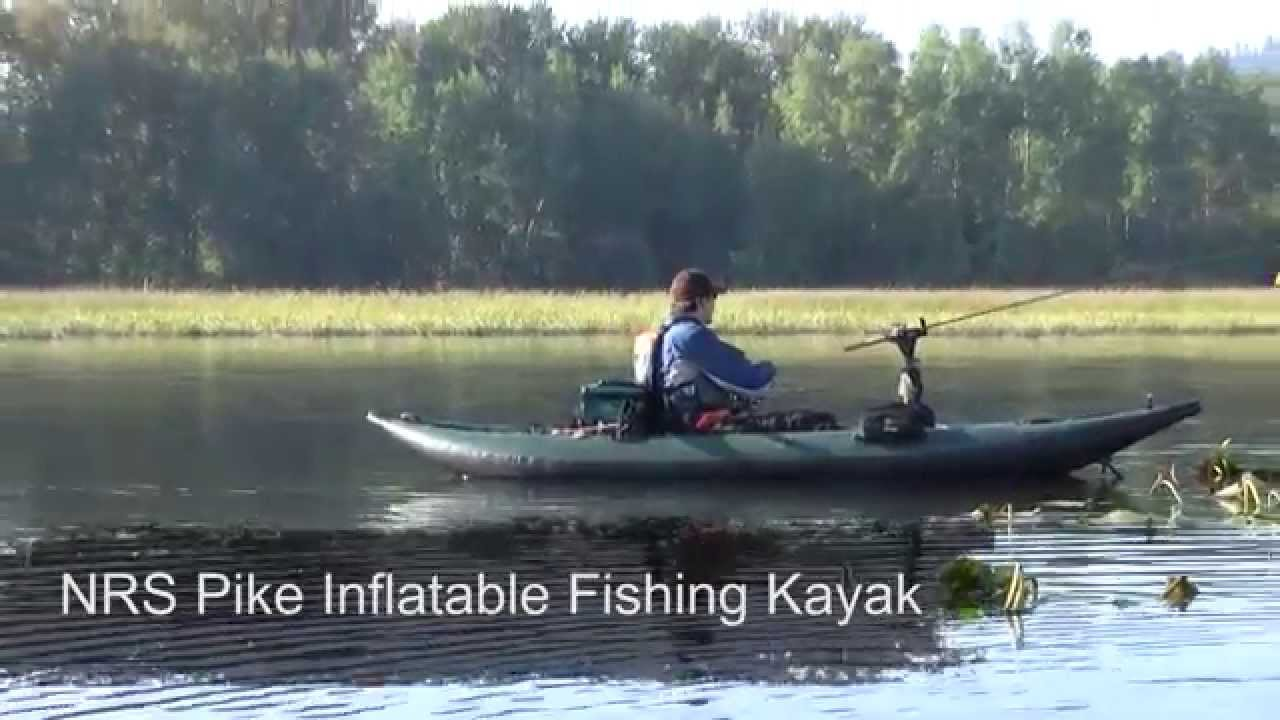 Nrs pike inflatable fishing kayak youtube for Best inflatable fishing kayak