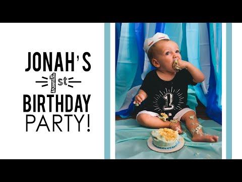 Jonahs 1st bday party!