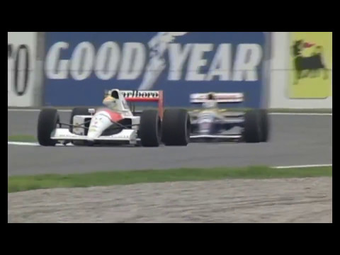 1991 Spain Mansell vs. Senna (50fps Broadcast Quality)