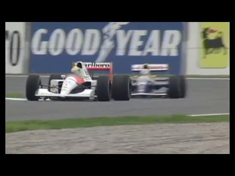 1991 Spain Mansell vs. Senna (50fps Broadcast Quality)