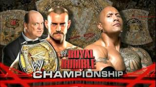WWE Royal Rumble 2013 - The Rock VS CM Punk - Official Match Card
