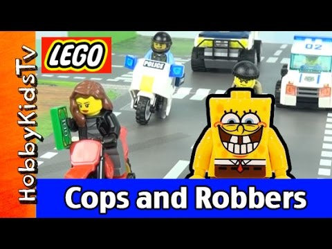 Lego SpongeBob Squarepants Cops and Robbers HobbyKidsTV 60042
