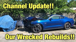 Channel Update! Our Wrecked Salvage Cars From Copart