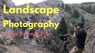 Landscape Photography: Large Format 4x5 Camera & Waterfall