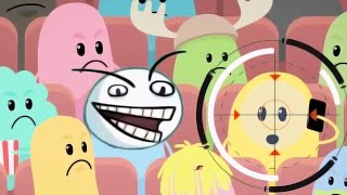 Dumb Ways To Die Vs SpongeBob's Game Frenzy! - The Troll In Movie Theater