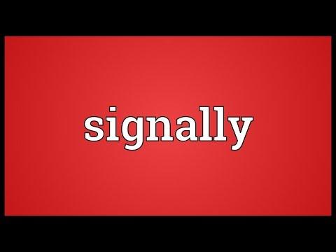 Header of signally