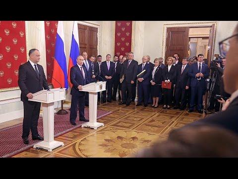 Гагаузия - одна из центральных тем совместного заявления Владимира Путина и Игоря Додона