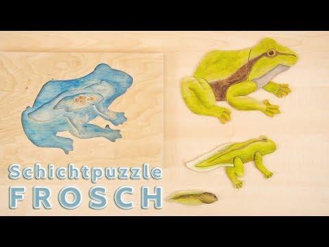 Montessori Material kosmische Erziehung: Schichtpuzzle Frosch
