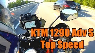 KTM 1290 Super Adventure S Top speed.