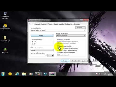 Como comprimir un archivo winrar en cualquier windows